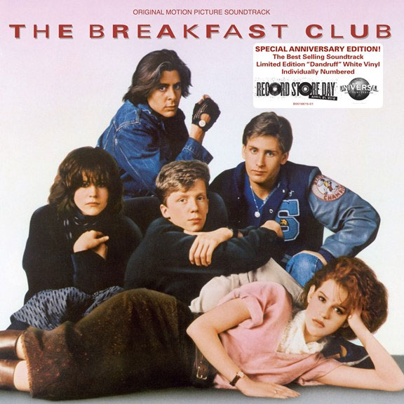 Limited Edition THE BREAKFAST CLUB White Vinyl Soundtrack ...