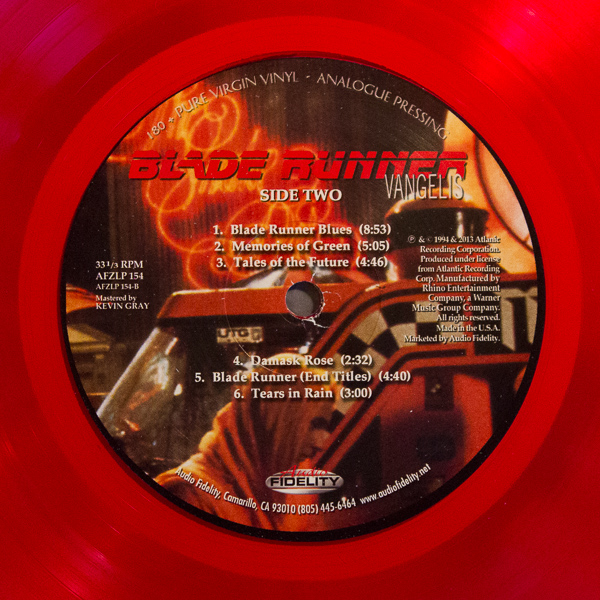 Blade Runner Red Translucent Vinyl Soundtrack (1)