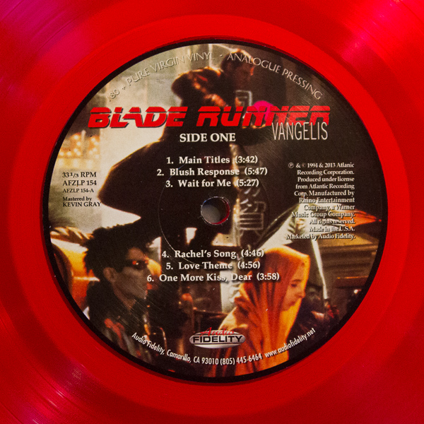 Blade Runner Red Translucent Vinyl Soundtrack (2)
