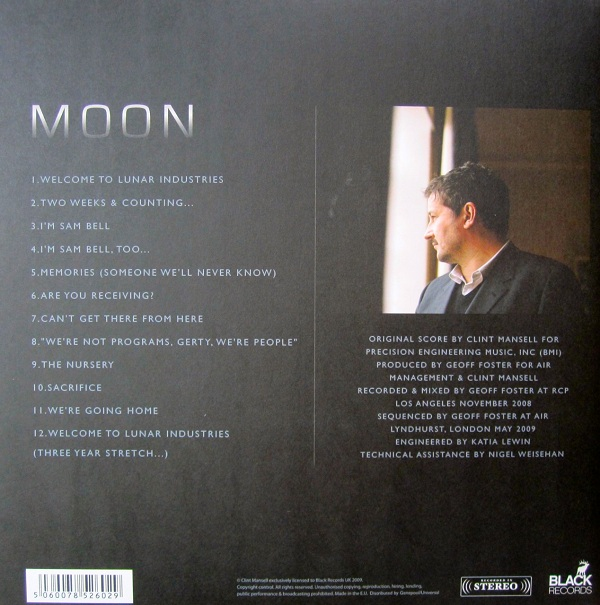 Moon Vinyl Soundtrack by Clint Mansell Rear Cover