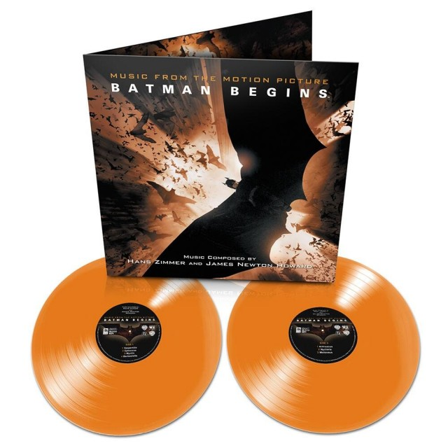 BATMAN BEGINS Orange Vinyl Soundtrack