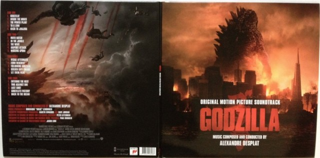 Limited Edition GODZILLA Vinyl Soundtrack by Alexandre Desplat Gatefold Sleevel